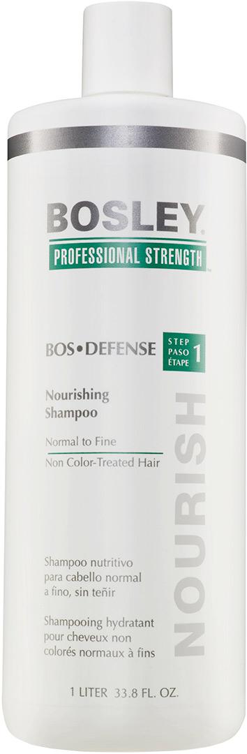 Шампунь питательный для нормальных/тонких неокрашенных волос Bosley Воs Defense Step 1 Nourishing Shampoo Normal To Fine Non Color-Treated Hair 1000мл: фото